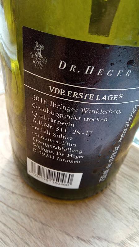Weingut Dr. Heger in Ihringen vdp erste lage ihringer Winklerberg grauburgunder