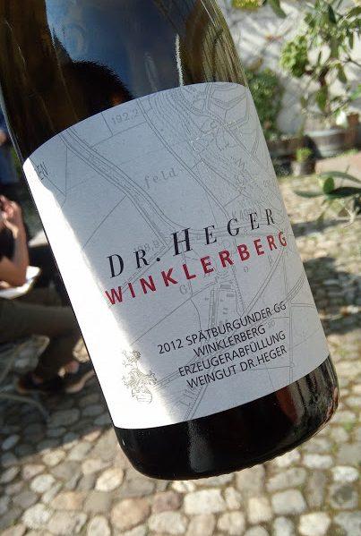 Weingut Dr. Heger in Ihringen winklerberg spätburgunder