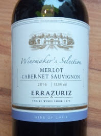 Errazuriz Winemaker's Selection Merlot Cabernet Sauvignon 2016, Valle Central, Chili