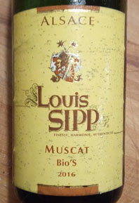 Louis Sipp Muscat, Bio, 2016, Alsace, Frankrijk