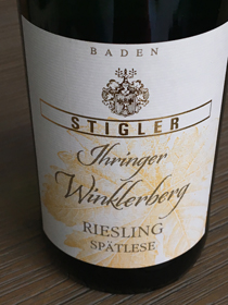Ihringer Winklerberg Spätlese 2015, Baden, Duitsland