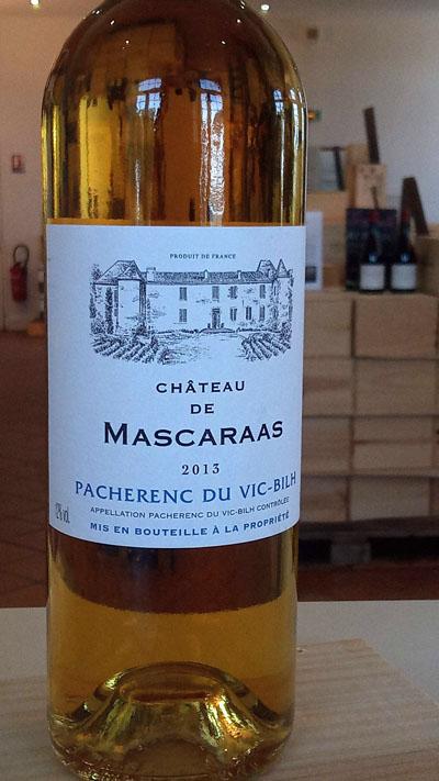 De mooie wijnen van Pacherenc du Vic-Bilh, chateau de Mascaraas