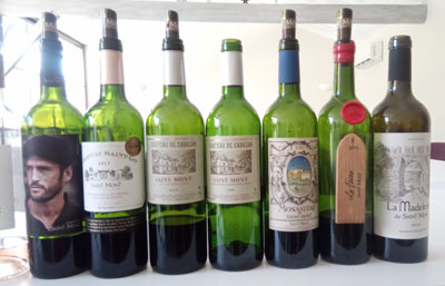 Een selectie van de wijnen van Saint Mont Plaimont