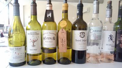 Een selectie van de witte wijnen van Saint Mont Plaimont