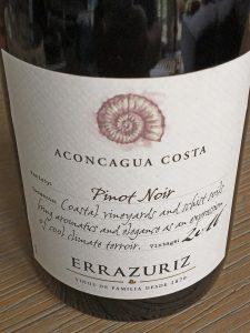 Errazuriz Pinot Noir Aconcagua Costa 2016 DO Aconcagua Costa, Chili