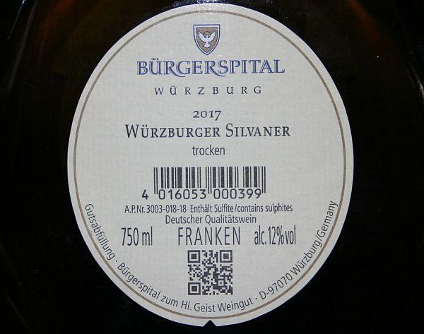 Burgerspital Wurzburg Silvaner