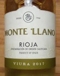 Monte 'Llano Rioja Viura, 2017, Rioja, Spanje
