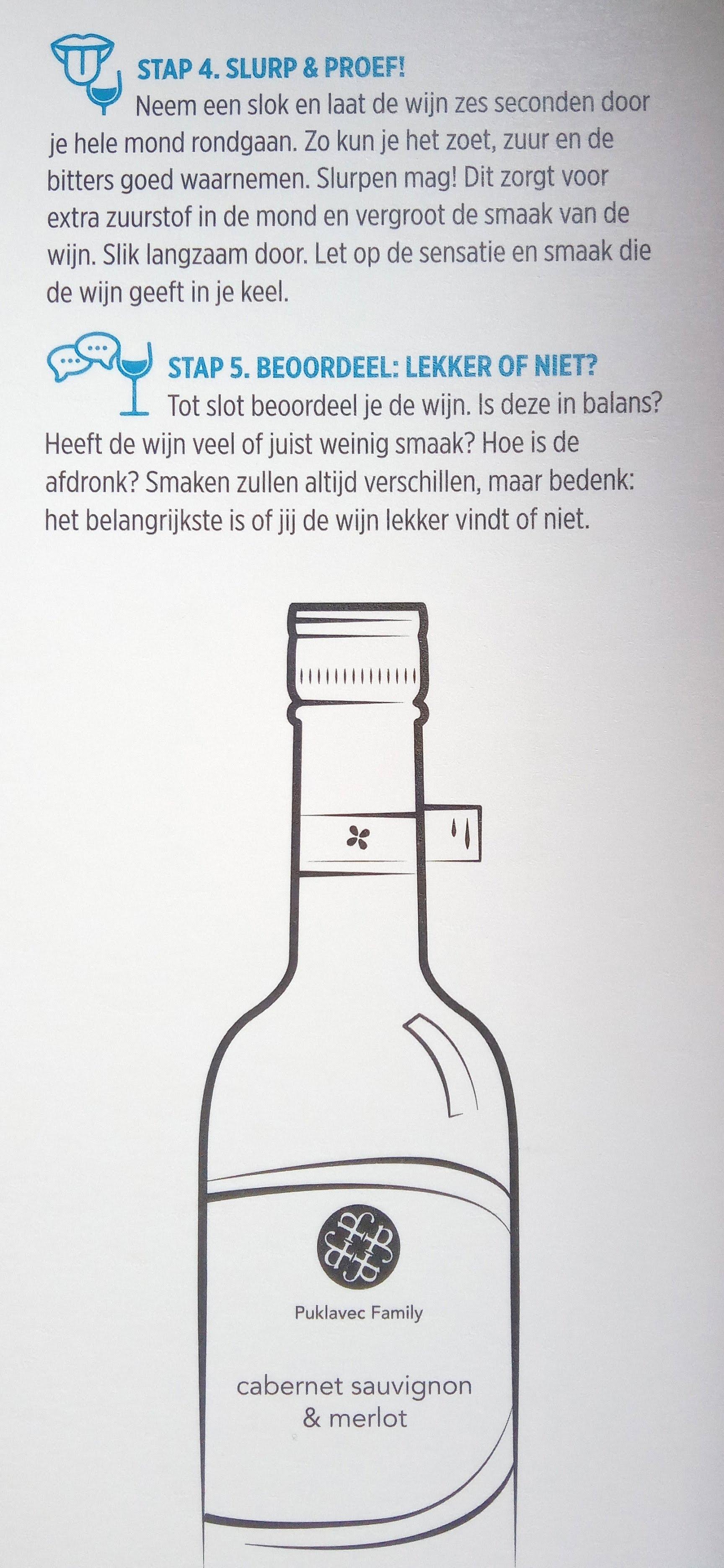 wijn proeven volgens albert heijn slurp en proef, beoordeel lekker of niet