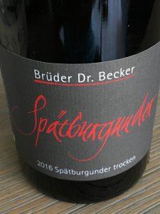 Brüder Dr. Becker Spätburgunder Trocken 2016, Rheinhessen, Duitsland