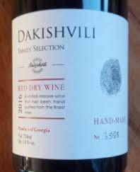 Dakishvili Red Dry Wine, 2016, Georgië