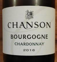 Chanson Bourgogne Chardonnay, 2016, Frankrijk