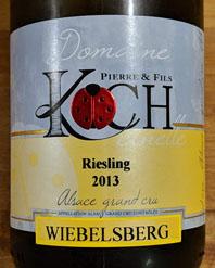 Koch Wiebelsberg Grand Cru, Riesling, Elzas, Frankrijk