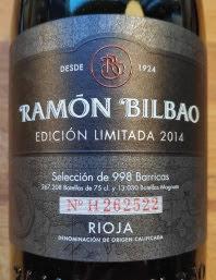 Ramon Bilbao Rioja Edicion Limitada 2014, Crianza, Spanje