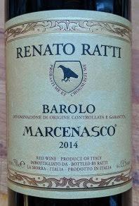 Renato Ratti Barolo Marcenasco, 2014, Italië