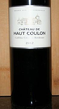 Château de Haut Coulon 2012, AC Côtes de Bordeaux, Frankrijk