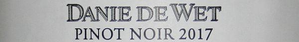 Danie De Wet Pinot Noir