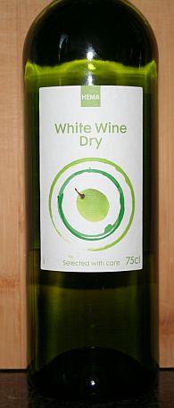 Huiswijn White Wine Dry van de Hema, Frankrijk