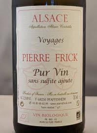 Pierre Frick, Voyages Pur Vin 2016, een pure biologische wijn uit de Elzas