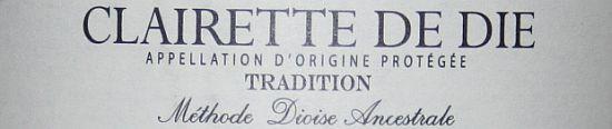 Clairette de Die van de Hema etiket