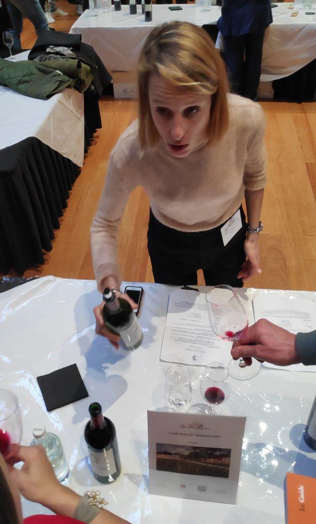 De wijn van Chateau Clerc Milon was fantastisch en een mooie bewaarwijn