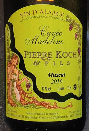 Pierre Koch, droge Muscat wijn uit de Elzas