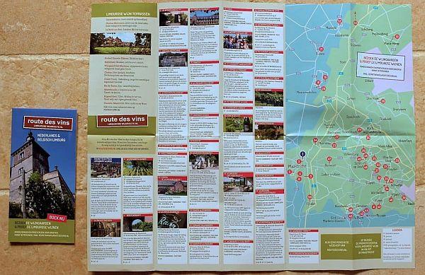 Route des Vins wijnroutekaart