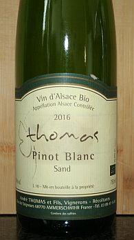 Andre Thomas Pinot Blanc Sand Vin Nature Natuurwijn