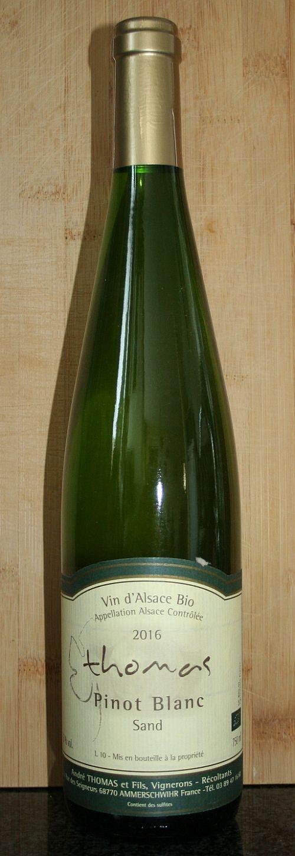 Andre Thomas Pinot Blanc Sand Vin Nature