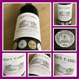 Chateau Haut-Cadet 2014; een (h)eerlijke Grand Cru wijn!
