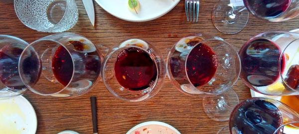 een proeverij met oude rode wijnen is altijd leuk