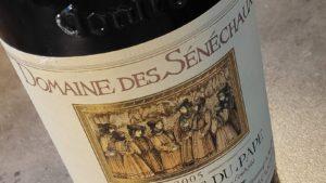 Een oude rode wijn, de Domaine des Sénéchaux