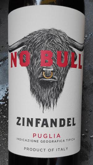 No Bull Zinfandel 2017, Puglia, Italië