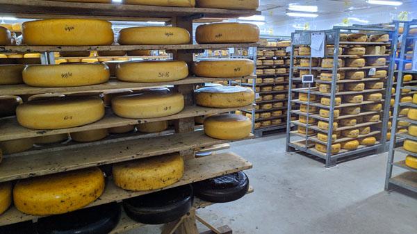 wijn en kaas. Kaas hoort te rijpen en wordt hierdoor ouder. Ouderen doet een kaas op houten planken