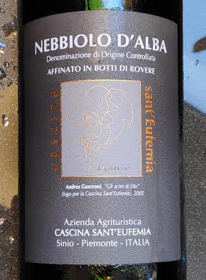 Cascina Sant'Eufemia, Nebbiolo d'Alba 2012, DOC uit Italië