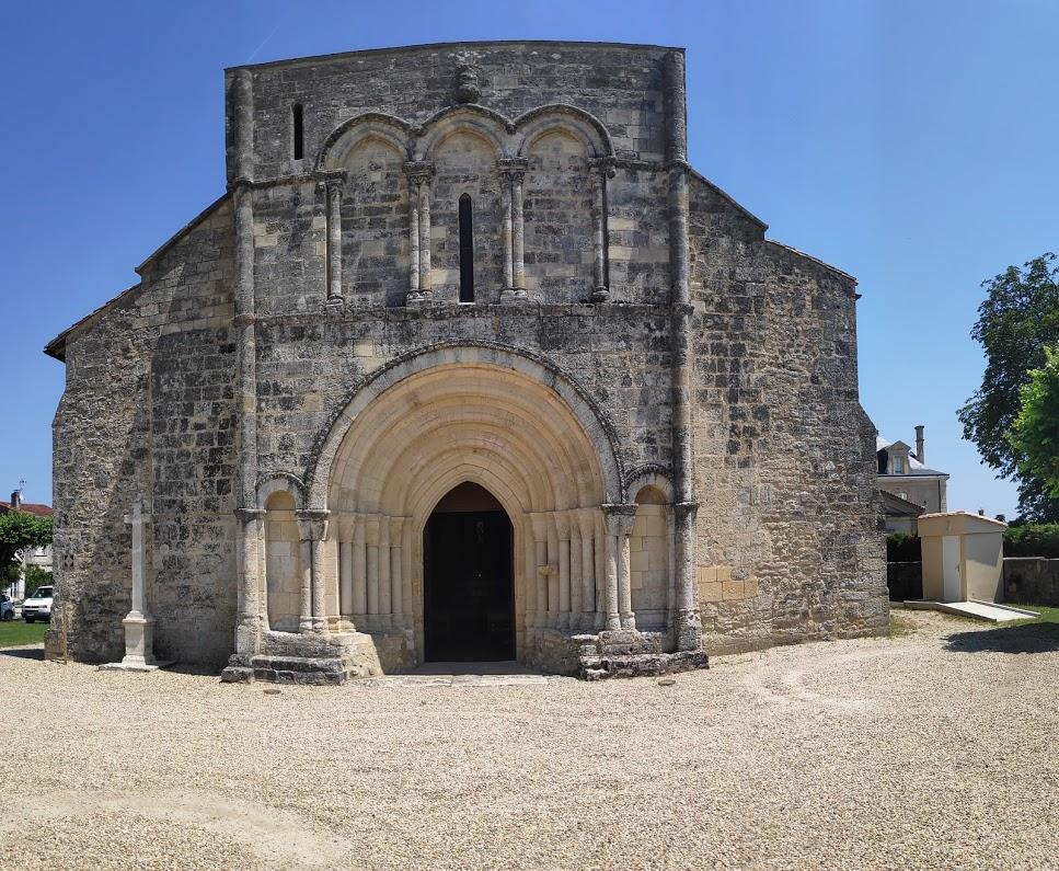De oude kerk van Moulis-en-Medoc