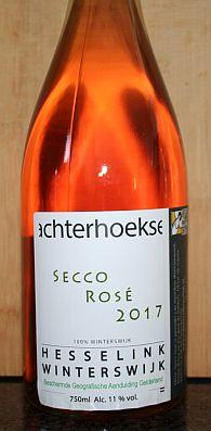 Wijngaard Hesselink Secco Rosé 2017, een soepel, zomerse bubbel rosé