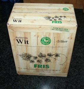 Nieuwe wijnverpakking en geschenkverpakking te recyclen, bag in box dozen moeilijk te recyclen