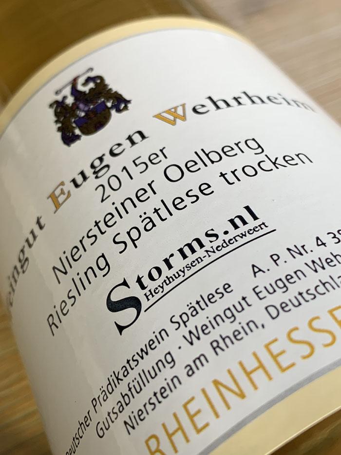Niersteiner Oelberg Riesling Spätlese Trocken 2015 verkrijgbaar bij wijnkoperij Storms