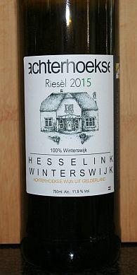 Wijngaard Hesselink Riesèl, een Nederlandse witte wijn uit de Achterhoek