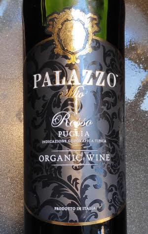 Palazzo Rosso, biologische rode wijn uit Puglia in Italië