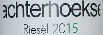 Wijngaard Hesselink Riesèl uit het wijnjaar 2015