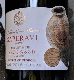 Kakhuri Gvinis Marani, een krachtige qvevri Saperavi uit Georgië