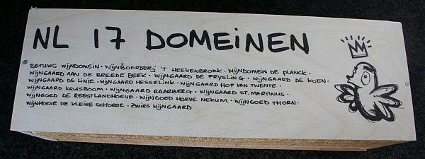 NL 17 Domeinen is een Nederlandse witte wijn voor het goede