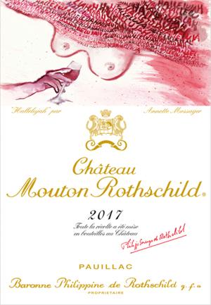 Chateau Mouton Rothschild 2017, de etiketten