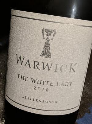 The White Lady, Chardonnay van Warwick. Een van de beste witte wijnen van Zuid-Afrika