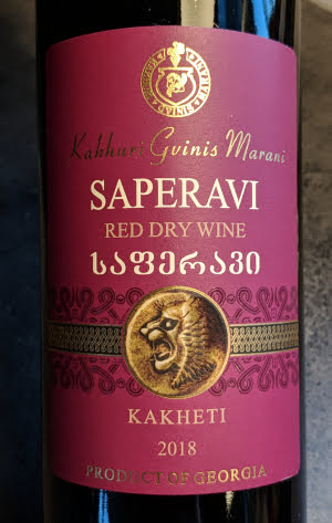 Kakhuri Gvinis Marani, een jonge Saperavi uit Kakheti