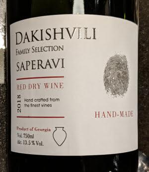 Dakishvili Family Selection Saperavi uit de Qvevri