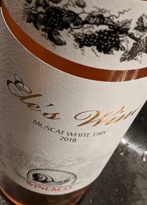 Ele's wine, een witte wijn met een rosé kleur uit Georgië
