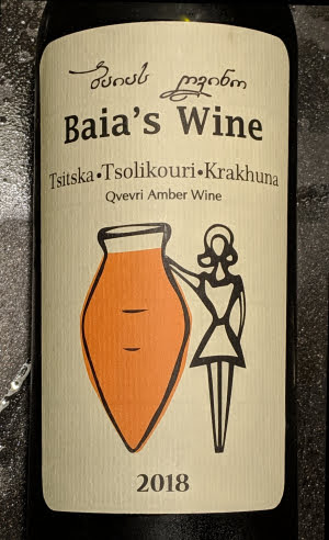 Baia's Wine, een amber wine uit Georgië