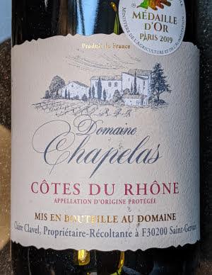 Domaine Chapelas 2017, Côtes du Rhône AOP uit Frankrijk
